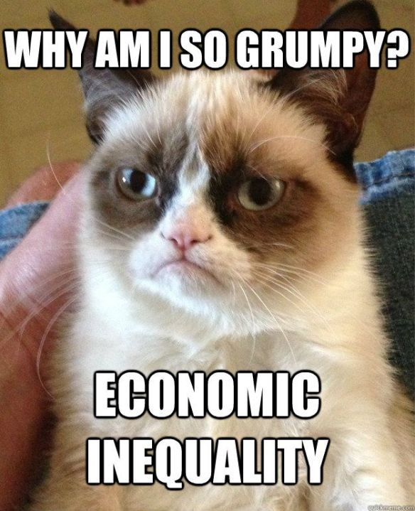 Why am I so grumpy? Economic inequality.